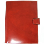 Andrea Del Sarto: Radica Range Collection – Italian Calf Leather Snap Closure Padfolio in- Brown
