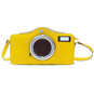 Photocamera: Radica Range Collection – Italian Calf Leather Shoulder Bag in Yellow