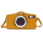 Photocamera: Radica Range Collection – Italian Calf Leather Shoulder Bag in Mustard