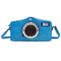 Photocamera: Radica Range Collection – Italian Calf Leather Shoulder Bag in ElectricBlue