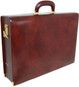 Machiavelli: Radica Range Collection – Grande Italian Calf Leather Attache Briefcase in- Coffee