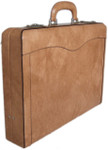 Federico: Radica Range Collection – Italian Calf Leather Top-Handle Briefcase in - Cuoio