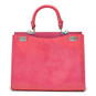 Anna Maria Luisa: Radica Range Collection – Large Italian Calf Leather Top Handle Handbag in Pink
