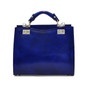 Anna Maria Luisa: Radica Range Collection – Medium Italian Calf Leather Top Handle Handbag in Electric Blue