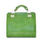 Anna Maria Luisa: Radica Range Collection – Medium Italian Calf Leather Top Handle Handbag in Green