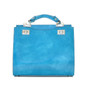 Anna Maria Luisa: Radica Range Collection – Medium Italian Calf Leather Top Handle Handbag in Sky Blue