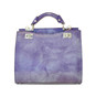 Anna Maria Luisa: Radica Range Collection – Medium Italian Calf Leather Top Handle Handbag in Violet