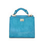 Anna Maria Luisa: Radica Range Collection – Small Italian Calf Leather Top Handle Handbag in Sky Blue