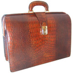 Brunelleschi Leonardo  for PC in Italian King Crocco cow Leather - Cognac (side view)