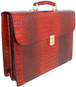 Donatello: King Croco Range Collection – Grande Calf Leather Briefcase in - Cognac