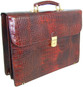 Donatello: King Croco Range Collection – Grande Calf Leather Briefcase in - Brown