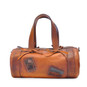 Marisol: Bruce Range Collection – Italian Calf Leather Duffel Tote Bag in Cognac