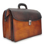 Leonardo: Bruce Collection – Calf Leather Accordion Briefcase in  Brown Side view