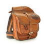 Bisaccia: Bruce Range Collection – Small Italian Calf Leather Messenger Backpack in  Side view