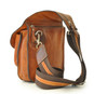 Bisaccia: Bruce Range Collection – Small Italian Calf Leather Messenger Backpack in  Back Side  view