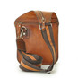 Bisaccia: Bruce Range Collection – Small Italian Calf Leather Messenger Backpack in  Back view