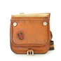 Bisaccia: Bruce Range Collection – Small Italian Calf Leather Messenger Backpack in  Front view