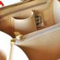 Saturnia: Radica Range Collection – Small Italian Calf Leather Top Handle Tote Handbag - interior view