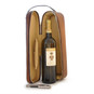 Bacco: Bruce Range Collection – Italian Calf Leather Wine Case in Brown with Wine view