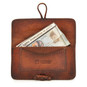 Porta Tabacco: Bruce Range Collection – Italian Calf Leather Tobacco Holder Case in Brown open view