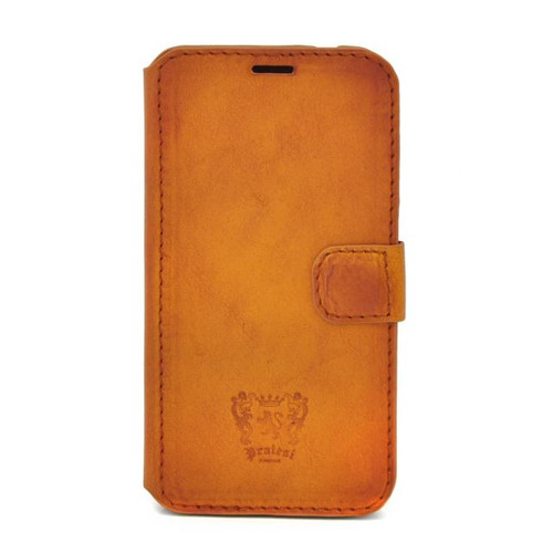 Samsung Galaxy S5: Bruce Range Collection – Italian Calf Leather Phone Cover in Cognac
