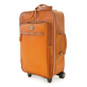 Polinesia: Bruce Range Collection – Italian Calf Leather Wheeled  Trolley Suitcase in Cognac