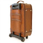 Polinesia: Bruce Range Collection – Italian Calf Leather Wheeled  Trolley Suitcase in Brown Back View