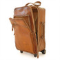 Polinesia: Bruce Range Collection – Italian Calf Leather Wheeled  Trolley Suitcase in Brown Open View
