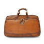 Transiberiana: Bruce Range Collection Small Italian Calf Leather Duffel Wheeled Travel Bag  in - Brown