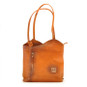 Consuma: Bruce Range Collection – Large Italian Calf Leather Shoulder Backpack Bag in Cognac
