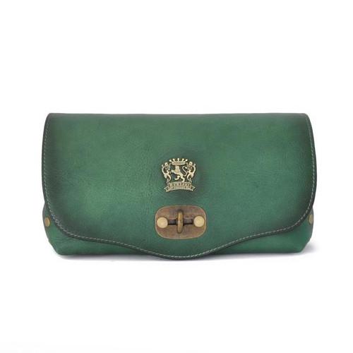 Castel Del Piano: Bruce Range Collection – Italian Calf Leather Cross Body Bag in Emerald
