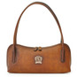 Sansepolcro: Bruce Range Collection – Italian Calf Leather Baguette Shoulder Bag in Brown