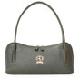 Sansepolcro: Bruce Range Collection – Italian Calf Leather Baguette Shoulder Bag in Green