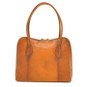 Talla: Bruce Range Collection – Italian Calf Leather Tote Shoulder Bag in Brown (back view)