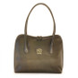 Talla: Bruce Range Collection – Italian Calf Leather Tote Shoulder Bag in Green
