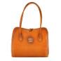 Talla: Bruce Range Collection – Italian Calf Leather Tote Shoulder Bag in Cognac