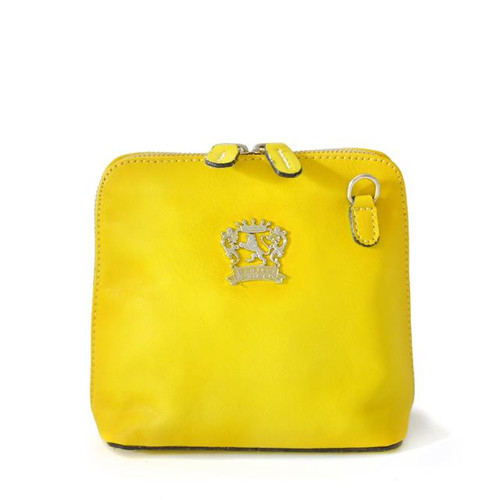 Volterra: Bruce Range Collection – Italian Calf Leather Cross-body Handbag in Yellow