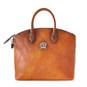Versilia: Bruce Range Collection – Italian Calf Leather Cross body Tote Handbag in Cognac