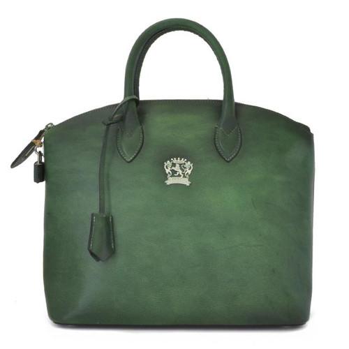 Versilia: Bruce Range Collection – Italian Calf Leather Cross body Tote Handbag in Smeraldo