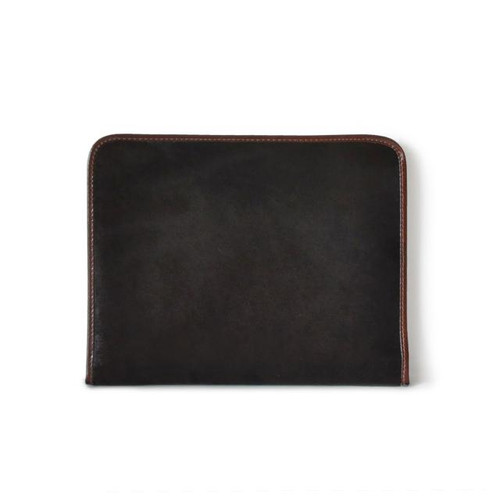Dante: Cavallino Range Collection – Italian Calf Leather Zip-Around Padfolio in Coffee