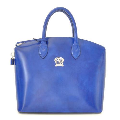 Versilia: Radica Range Collection – Italian Calf Leather Cross body Tote Handbag in Electric Blue