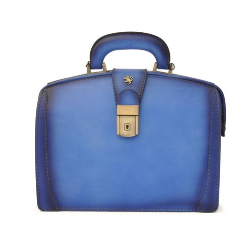 Miss Brunelleschi: Bruce Range Collection – Italian Calf Leather Handbag in Sky Blue