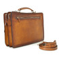 Milano: Bruce Range Collection – Italian Calf Leather Tophandle Briefcase in Brown (back view)