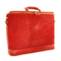 Raffaello: Cavallino Range Collection – Grande Italian Calf Leather Tophandle Laptop Briefcase in Cherry