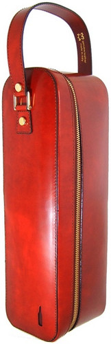 Bacco: Radica Range Collection – Italian Calf Leather Wine Case in Brown