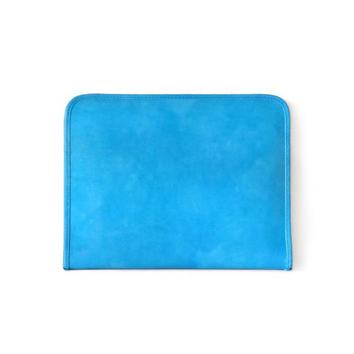 Dante: Radica Range Collection – Italian Calf Leather Zip-Around Padfolio in - Sky Blue