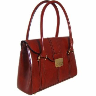 Pinturicchio: Radica Range Collection – Small Italian Calf Leather Shoulder Bag in Brown