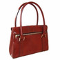 Pinturicchio: Radica Range Collection – Small Italian Calf Leather Shoulder Bag in Brown (Back View)