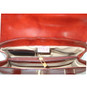 Pinturicchio: Radica Range Collection – Small Italian Calf Leather Shoulder Bag in Cherry (interior bag view)