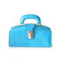 Lady Brunelleschi: Radica Range Collection – Italian Calf Leather Top Handle Lady Doctor Handbag in Sky Blue